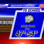 Dry & cool at the Bus Stop this morning, but grab the umbrella/raincoat for the kids for PM ride home. #arwx #mowx http://t.co/tMxZ1168vZ