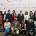 Posan los premiados con la #Biznaga del ciclo #AfirmandolosDerechosdelaMujer @LozanoMabel junto a @pacodelatorrep http://t.co/eLvFw1bp9u