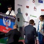 Украинская спортсменка вынесла на пьедестал флаг #ДНР ВИДЕО: http://t.co/MftcGDQ2pH #спорт #Украина http://t.co/fO8GxALnga