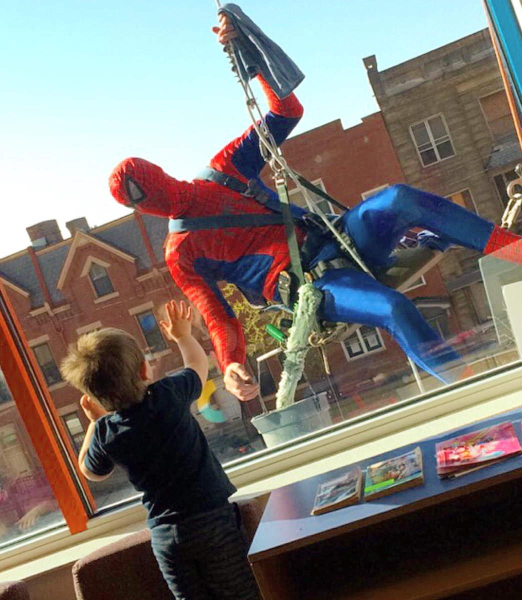 Saying hello to Spider-Man! #childrenspgh http://t.co/3LjKRKFesg
