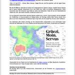 «Grüezi, Moin, Servus»: @tagesanzeiger und @Datenblog112 lancieren morgen ein Dialektquiz. http://t.co/QvVwqegKOI