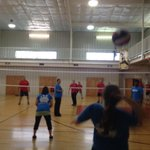Biggest sporting event in town is the Corporate Olympics. The team from @RitterComm currently in VB action. http://t.co/CBkhOx86to