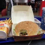 The Burger King Whopper the way it should be. Yummy!!! Budapest-1  Maharashtra-0  #beefban