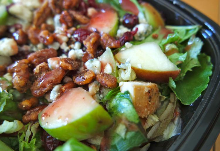 A closeup of @Wendys Apple Pecan Chicken Salad. So good! #BeyondTheBowl! #ad #CleverGirls http://t.co/qQRSuzxgB3 http://t.co/qzKOMG4end