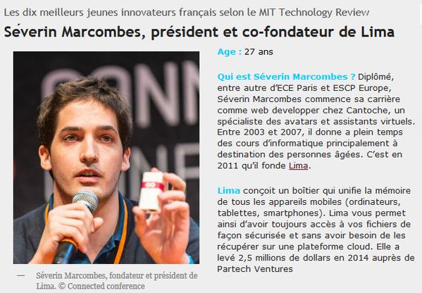 [fr] Un diplômé @ESCPeurope dans les 10 jeunes français les + innovants en 2015 selon le #MIT http://t.co/vJKF4SsKVH http://t.co/NkWZoEoxD2