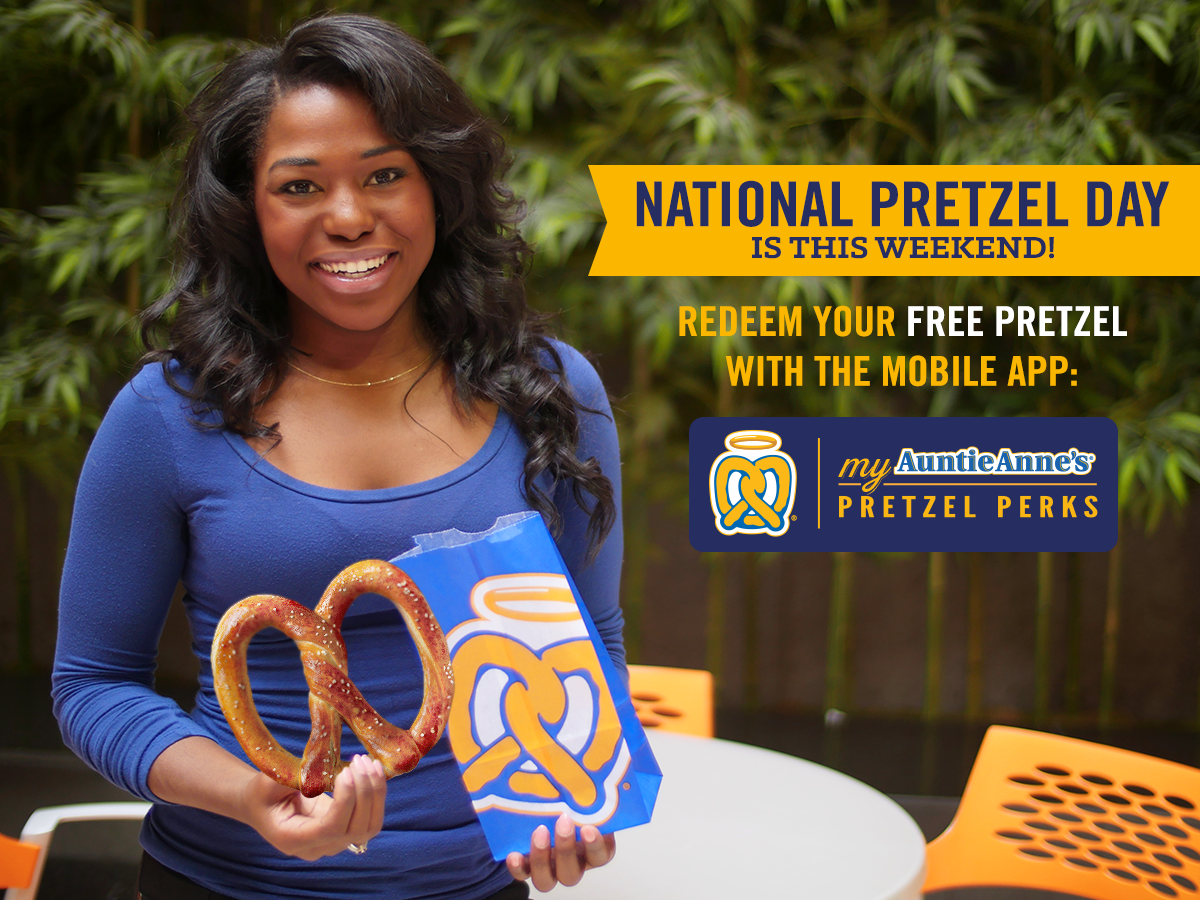 Celebrate #NationalPretzelDay weekend w/ us & redeem your Pretzel Perks reward by 4/26 for a tasty surprise! http://t.co/tuBK9vjPNT