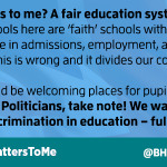 I want an end to faith schools - thats #WhatMattersToMe http://t.co/1ZYOcIDh15 @BHAhumanists
