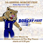 Dont miss out on Bobcat Fest! May 1... Downtown Bozeman... from 5-8 #GoCatsGo http://t.co/pPis5QbedF