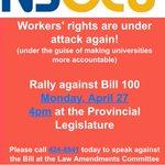 The @NSLiberals Attack Workers' Rights Again with #Bill100 — RALLY MONDAY: http://t.co/0XCuptPnLy #NSpoli #NSuncut http://t.co/t888XM70uA
