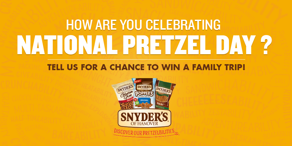 Follow us on Instagram or Twitter and use both #Pretzelbilities & #Sweeps for a chance to win! http://t.co/02AOZyhNzT http://t.co/gYLBDGomr9