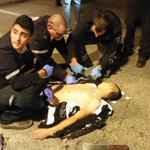 Th Palestinian boy (16years old) who just got shot by th Israeli soldiers at Zaayem checkpoint- #Jerusalem http://t.co/HuaNgQkkKK