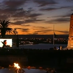 Spectacular horizon as the Last Post is played at the Kings Park dawn service #AnzacDay #9News http://t.co/ntVwxAr3u1