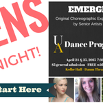 #UAdance opens Emerge senior dance show. FREE with Zip Card @uakron Info: https://t.co/cVcQ41rOFp #theartsstarthere http://t.co/jtBdMId9sK
