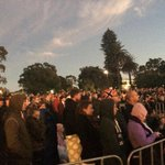 Crowd standing in quiet reverence at #kingspark #AnzacDay @perthnow http://t.co/eY9HnjLa0W