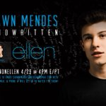 Performin on @TheEllenShow Weds ! LA fans email name, email, # to shawnmendesonellen@gmail.com first 100 will get in???? http://t.co/CrjcmoSFJv