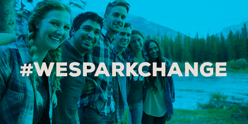 Share a pic w/ 5 friends & #WeSparkChange and we'll give $10 to @FeedingAmerica up to $1.5mil. Works if you RT, too! http://t.co/8xFraZWasg