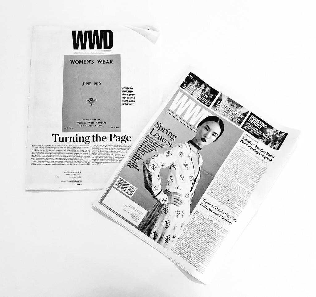 The Last Print Issue of @wwd | You Will Be Missed http://t.co/5RKX48vYHc
