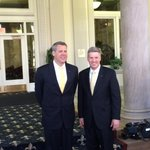 New #Pitt AD Scott Barnes and chancellor Patrick Gallagher. http://t.co/uiUMElrS9e