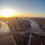 Fun shot from today over #Pittsburgh, as I took the drone for a spin. GoPro isnt the best, but still a cool view! http://t.co/8i2VwAe8kb