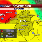 Severe storm potential going up tomorrow area-wide. Enhanced chance for parts of WNC. Details at 5pm #LiveOnWLOS http://t.co/dfx8EE9d3r