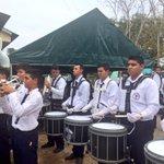 La banda del Colegio Manuel María Tejada Roca recibe al Presidente @JC_Varela en la comunidad de El Muñoz. http://t.co/59IRB8ZNTg