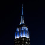 Congrats to the @Yankees on the #SubwaySeries Game 1 win! We're now beaming pinstripes across NYC in their honor. http://t.co/YxYkiB6iiJ