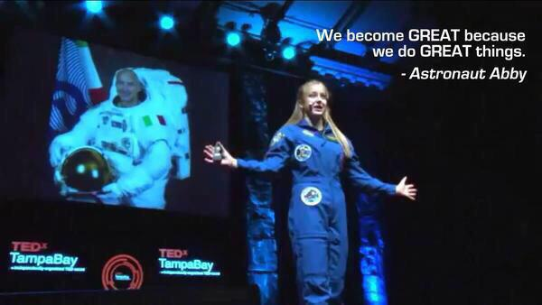 "My #Teenager inspires me ""We become great because we do great things"" - @AstronautAbby #shortyawards #JourneyToMars http://t.co/r6cK7nBmFm"