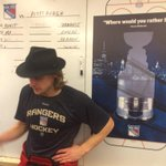 #NYR @CarlHagelin with the Broadway Hat after adding the 4th piece to the puzzle!!!! #ChangeTheEnding http://t.co/TGJZZkAxb2