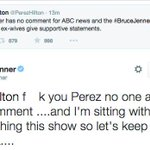 """About that """"no comment"""" from Kris Jenner http://t.co/7SdxxII4L5 #BruceJennerInterview http://t.co/hg9GIvvciW"""