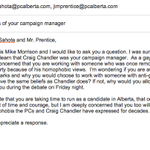 This is the email I just sent Jim Prentice and the PC Calgary-McCall candidate. I will not accept homophobia in 2015. http://t.co/8ST2HzfxJZ
