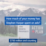 Harper is wasting your money on partisan ads during tonight's #Habs #Sens game. RT if you've had enough. #paid4byyou http://t.co/CQDRNKqEce