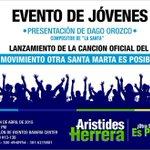 A esta hora @AristidesHerrer presenta su Jingle de campaña con los jóvenes de su movimiento @otraSMesposible. http://t.co/yWN5NhDPkA