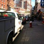 Eastbound Newark Avenue parking...Really!? - Cant wait for pedestrian plaza! @HarsCoveAssoc @candiceosborne http://t.co/YWwtJA063n