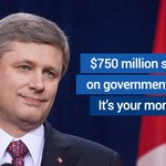 Harper is wasting your money on partisan ads during tonight's #Habs #Sens game. RT if you've had enough. #paid4byyou http://t.co/e5JrT9TwzT