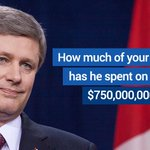 Harper is wasting your money on partisan ads during tonight's #Habs #Sens game. RT if you've had enough. #paid4byyou http://t.co/xtoUiHAo6Z