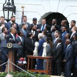 """""""I told him to keep his shirt on today."""" -Obama on Gronk  Funny moments from the WH visit: http://t.co/qNDqiZP8eR http://t.co/QAicJDE89f"""