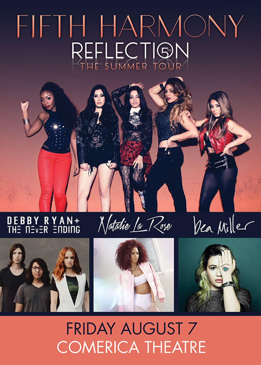 JUST ANNOUNCED — @FifthHarmony w/ @DebbyRyan & more on Aug 7th! Tickets go on sale 5/1 at http://t.co/wieJRK3dm4 http://t.co/G1S9pdDfEk