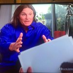 """#BruceJenner at a picture of himself: """"That is me. That is her."""" #BruceJennerABC http://t.co/tUyJfH7NU7"""