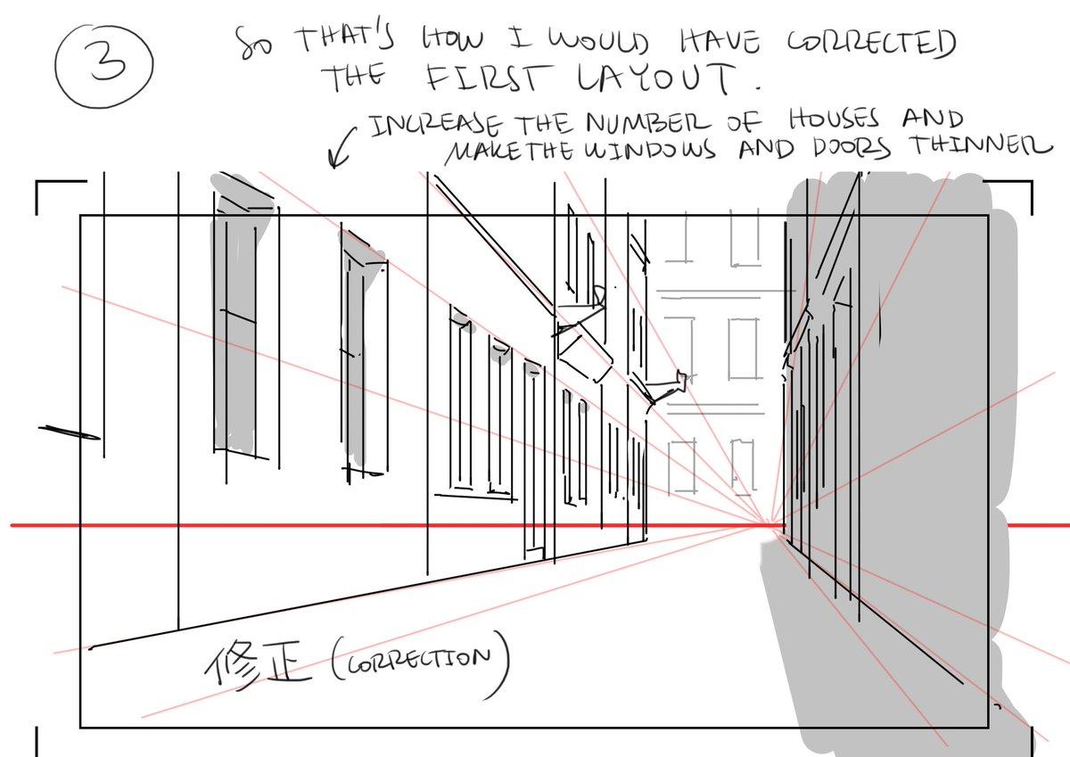 ストリートを描く時に、気をつけなければいけないこと。素人の漫画家さんや若手のアニメーターの絵によく見かける間違い。 How to draw a street that looks good (to me at least!)