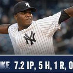 78 strikes on 100 pitches, #BIGMike was nothing short of huge tonight. #PinstripePride http://t.co/QmDktfYlal