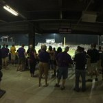 """Lots of """"Standing Room Only"""" fans trying to watch #LSU and Texas A&M. Aggies lead 5-2 in 6th inning. http://t.co/EJATfVaTRi"""