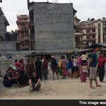 RT @ndtv: In pics: buildings damaged in Nepal after massive earthquake http://t.co/ZAGynSo0BV