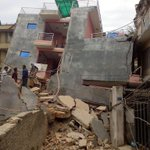 Building damaged due to earthquake in Kathmandu, Photo via @Jaw_Knock) http://t.co/w0smLyXrv3
