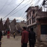 Pray for #Nepal,hope the earthquake does not leave too many casualties. #earthquake #Nepal http://t.co/qJPKTS1gK1