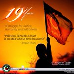 19 years of PTI today;as the party gains a federal presence by the day, PTI is definitely an idea whose time has come http://t.co/v1mQotBqG8