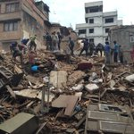 #NEPAL: People rushing to hospitals, locals say many trapped in rubble http://t.co/E6wZrronVg (pic via @kashishds) http://t.co/zAwM8M0n62