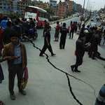 Streets in #Nepal 's capital Kathmandu severely damaged by strong M8.1 #earthquake : CENC http://t.co/OMnDBFKqzA