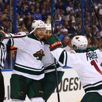 Minnesota dominates St. Louis in Game 5, wins 4-1. Wild take 3-2 series lead with tonights victory. http://t.co/lBUHRv6M3W