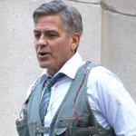 George Clooney filmed a stressful scene for his upcoming movie 'Money Monster.' Pics here: http://t.co/fFQqnzrXba http://t.co/F61Px7tWMG