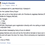 """Why is Craig """"Homosexual Agenda Wicked"""" Chandler organizing events for Prentice? #abvote http://t.co/FfekpLTTt6 http://t.co/tzm5ZguyR5"""